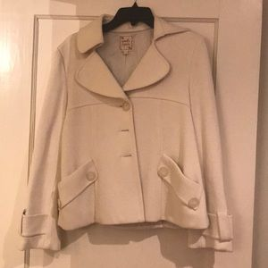 Nanette Lepore Creme Ivory Jacket size L